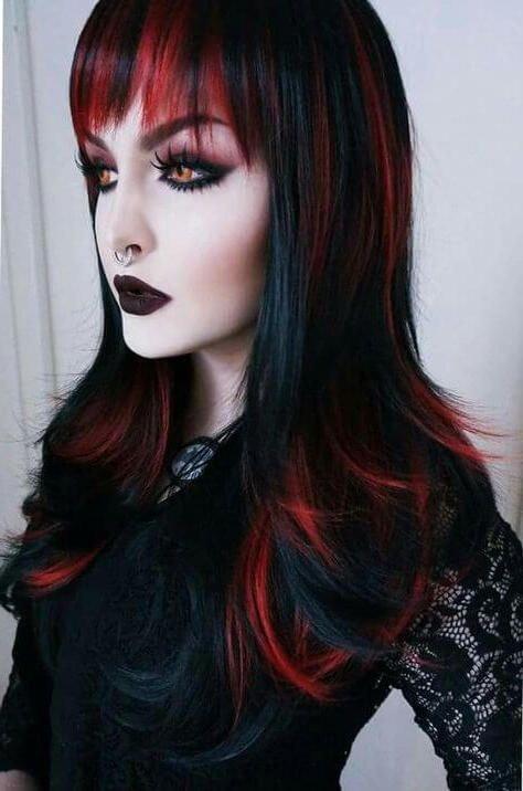 peinados de vampiro para halloween