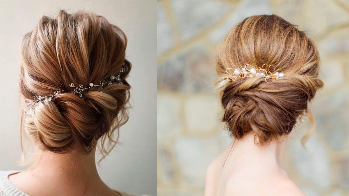 peinado recogidos de boda con media melena